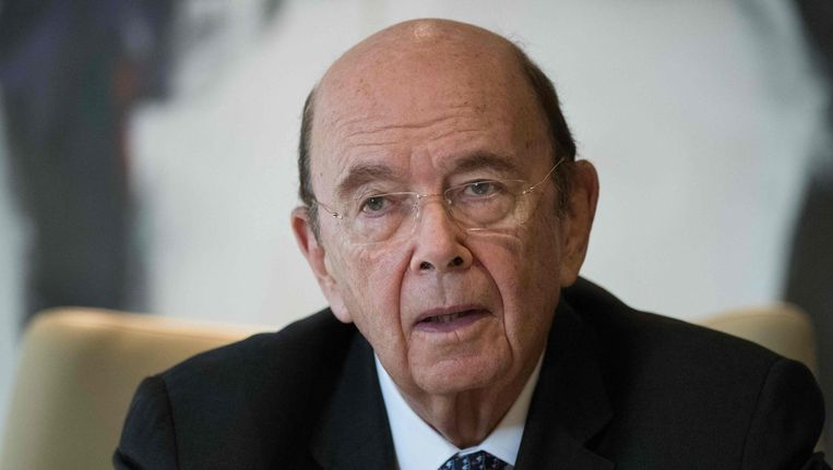 De Amerikaanse minister van Economische Zaken Wilbur Ross. Beeld AFP