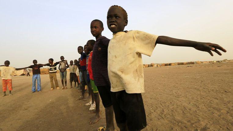 Spelende Zuid-Soedanese kinderen Beeld reuters
