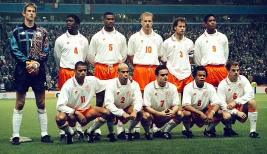 De lichting van 1996, met onder anderen Clarence Seedorf, Patrick Kluivert en Edgar Davids.