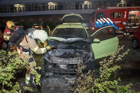 Ede werd vorig jaar geteisterd door autobranden.