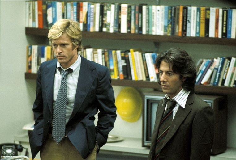 Robert Redford en Dustin Hoffman. Beeld Hollandse Hoogte / Mary Evans Picture Library Ltd.