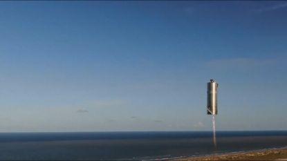 SpaceX toont opnieuw een trucje met een nieuw ruimtetuig dat Mars moet bereiken