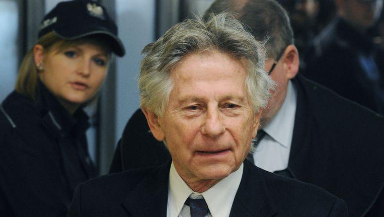 Roman Polanski in de rechtbank van de Poolse stad Krakow.