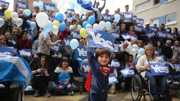 Voorstanders van Schotse onafhankelijkheid. Beeld getty