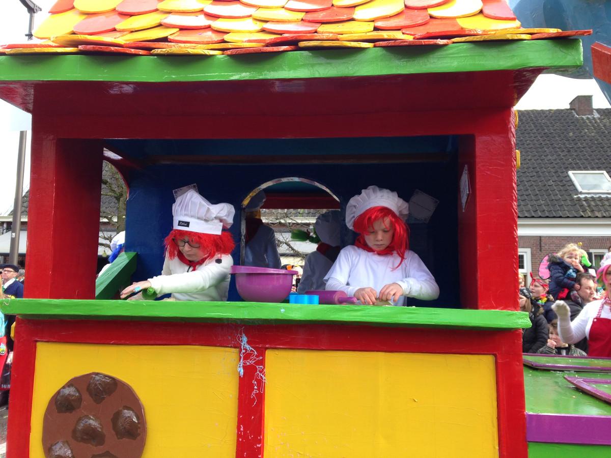 Een beeld uit de Udenhoutse carnavalsoptocht van afgelopen jaar.