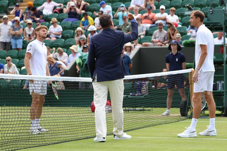 Goffin en Medvedev troffen mekaar al op Wimbledon...