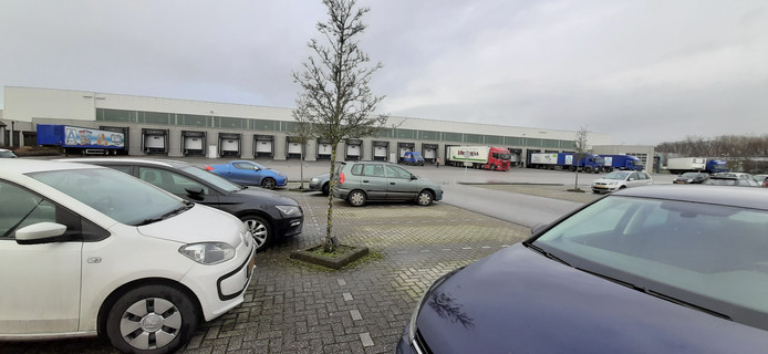 Het distributiecentrum op bedrijventerrein De Laarberg in Groenlo.