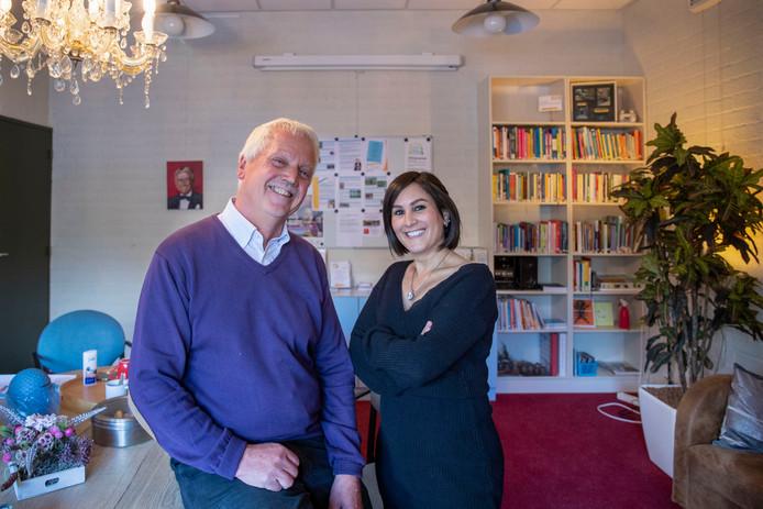 Herman van Dieren en Shaida Ahdour zijn buddy's voor kankerpatiënten bij het Toon Hermans Huis.