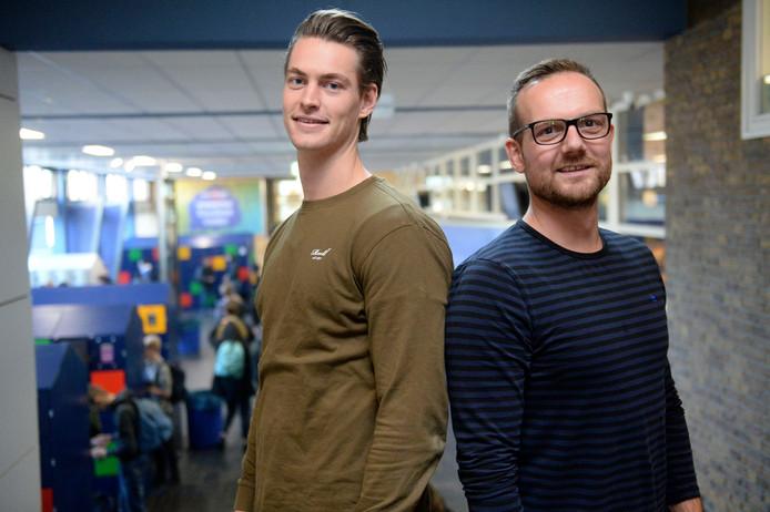 Jongerenwerkers Luuc Rickhoff (l) en Rick Ravenshorst