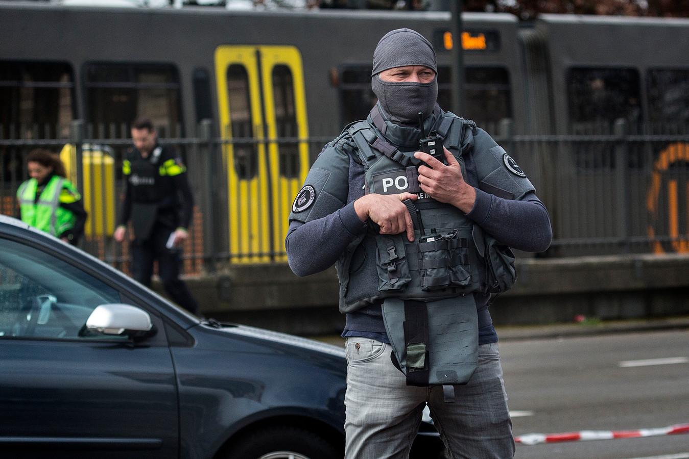 De Dienst Speciale Interventies werd ingezet bij de aanslag op de tram, 18 maart 2019.