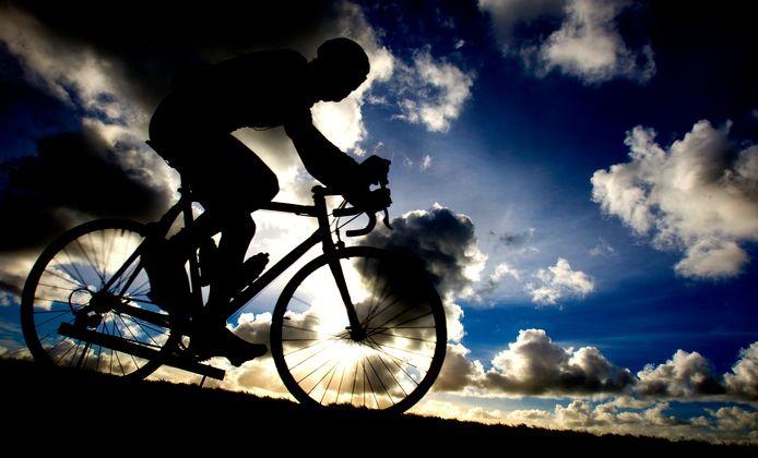 De wielrenner stopte niet