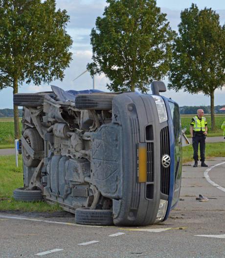 Gewonde bij botsing met busje in Swifterbant