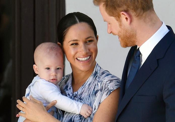 Meghan Markle, le Prince Harry et leur enfant, Archie.