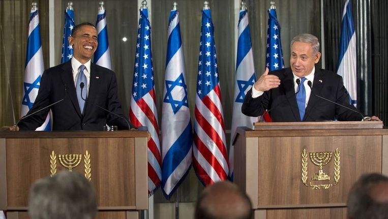 Obama en Netanyahu. Beeld anp