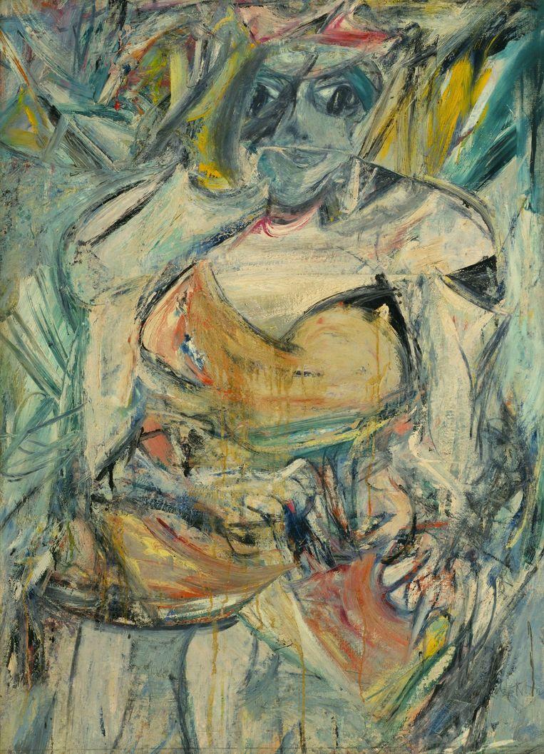 Het tweede schilderij in de reeks van Willem de Kooning: 'Woman II'.