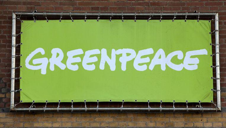 Greenpeace voert actie tegen onkruidverdelger. Beeld anp