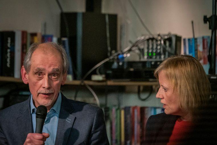 Jan-Willem van Es (50Plus) en Grethe van Geffen (VVD). Beeld Joris Vermeulen