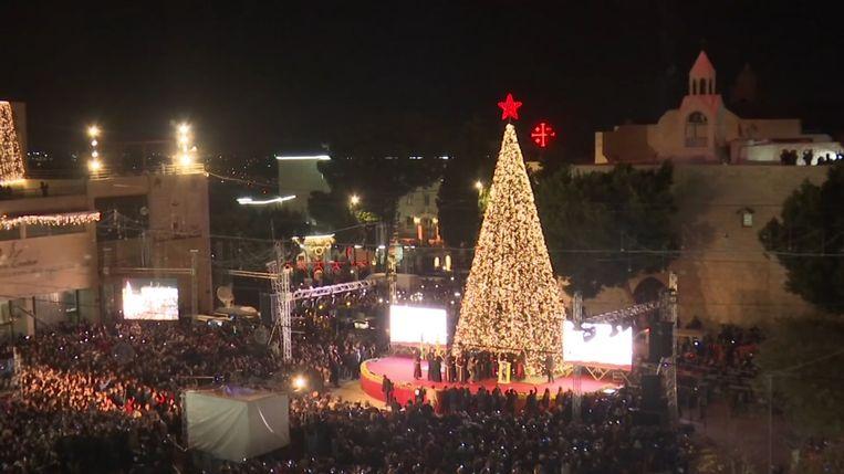 De kerstboom in Betlehem.