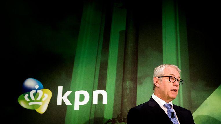 Eelco Blok bij de presentatie van de jaarcijfers in het KPN-hoofdkantoor, 2 februari 2017. Beeld anp