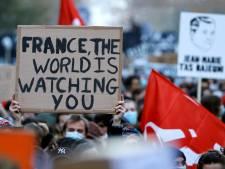Une manifestation à Bruxelles samedi contre la proposition de loi française sur la sécurité