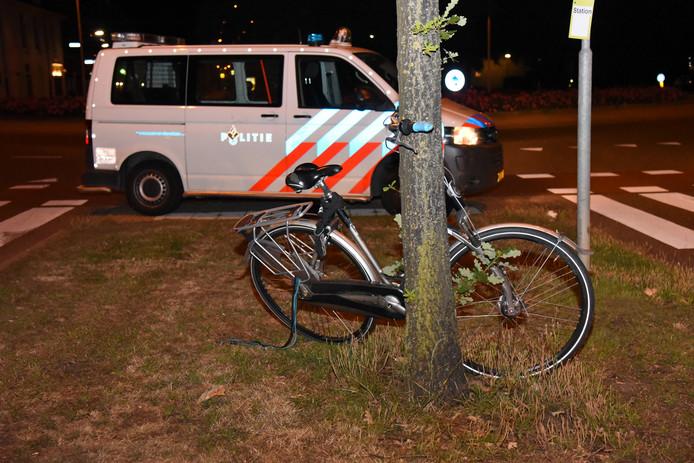 De fiets is thuisgebracht door de politie.