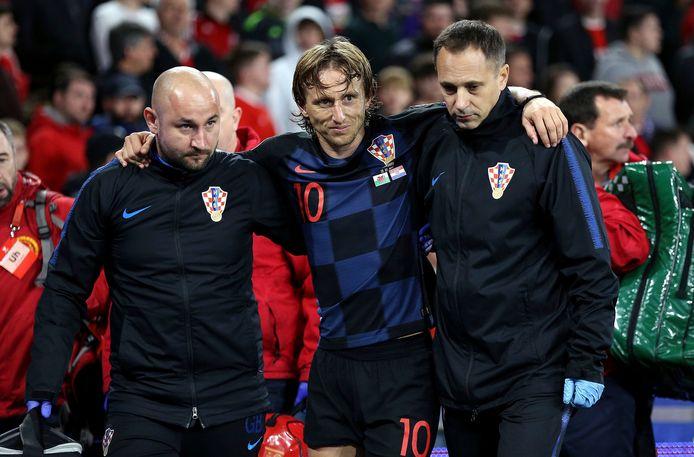 Luka Modric raakte geblesseerd tijdens de interlandperiode bij Kroatië.