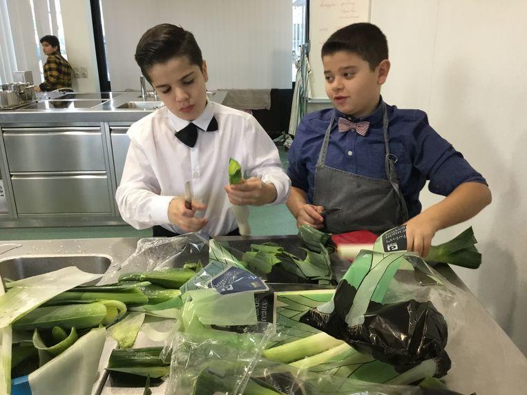 De leerlingen van basisschool De Schorre openden hun eigen pop-up restaurant.