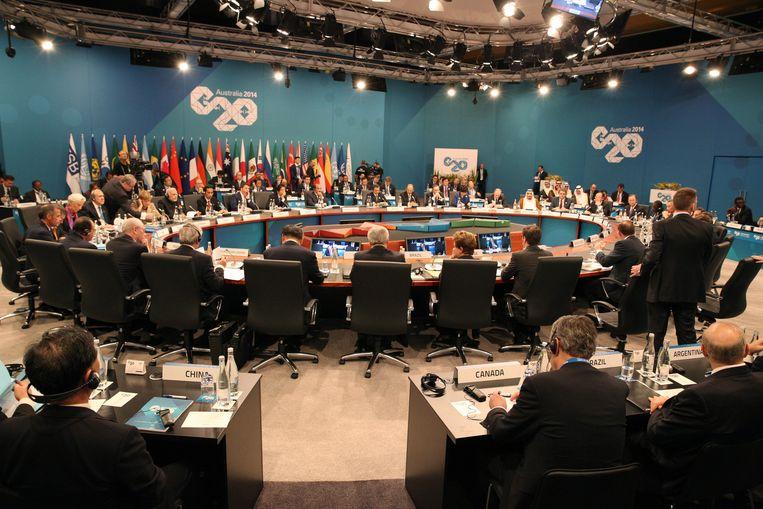 De kamer waar de G20 plaatsvindt. Beeld getty
