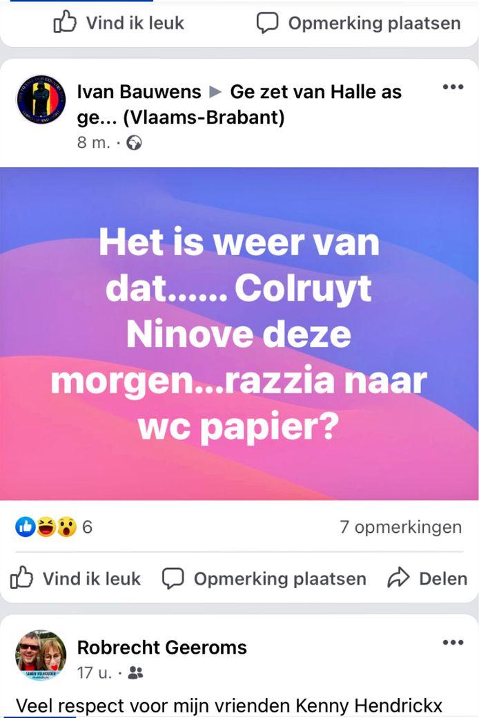 In Colruyt Ninove is de strijd om wc-papier opnieuw losgebarsten.