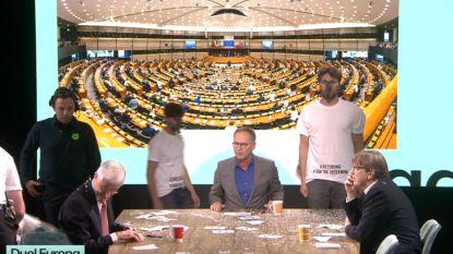Klimaatactivisten verstoren uitzending 'De Zevende Dag' met confettiregen