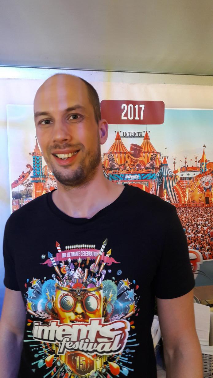 Remko Hermans, fulltime organisator van dancefestival Intents in Oisterwijk