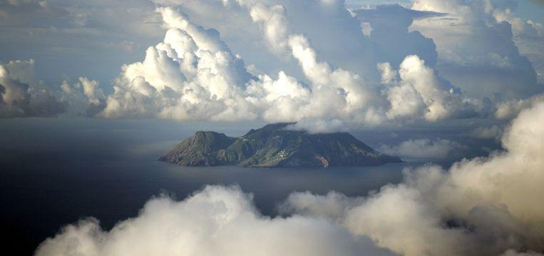 Luchtfoto van Saba. Beeld ANP