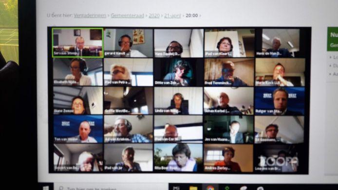 Gaat de raad West Betuwe weer digitaal vergaderen via Zoom?