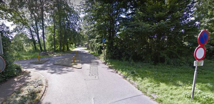 Omrijden via de Landmansweg, om de werkzaamheden op de Castorweg te omzeilen.