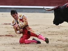 Nicht van Spaanse koning ziet hoe stier haar vriend zwaar toetakelt