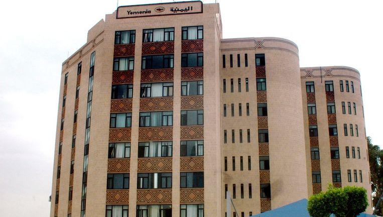 Het hoofdkantoor van Jemenia Airways. Foto EPA Beeld