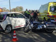 Motorrijder gewond na botsing in Groesbeek
