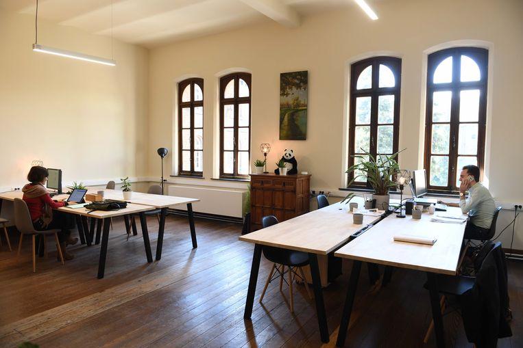 De werkruimte van Labora in de Leuvense Abdij Keizersberg