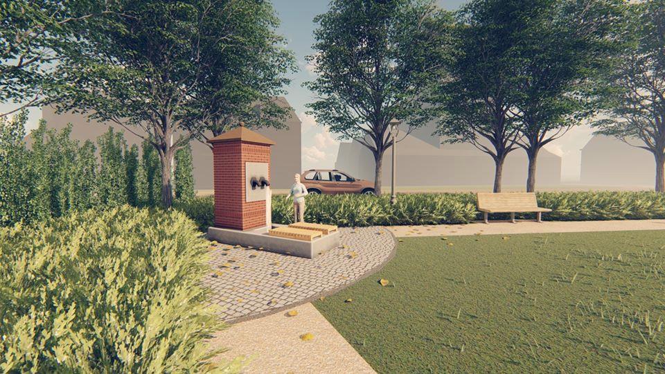 Impressie van de nieuwe dorpspomp voor Oisterwijk op de Kop van de Lind