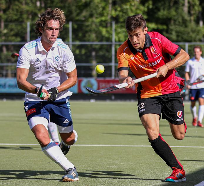 Wedstrijdbeeld HC Tilburg - Oranje-Rood.