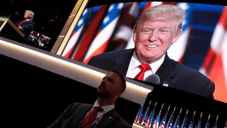 Donald Trump in Cleveland. Beeld REUTERS