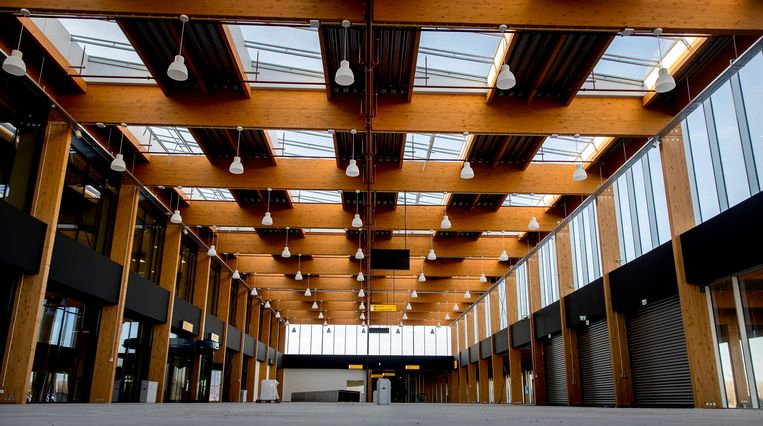 De nieuwe terminal van Lelystad Airport is al klaar.  Beeld ANP