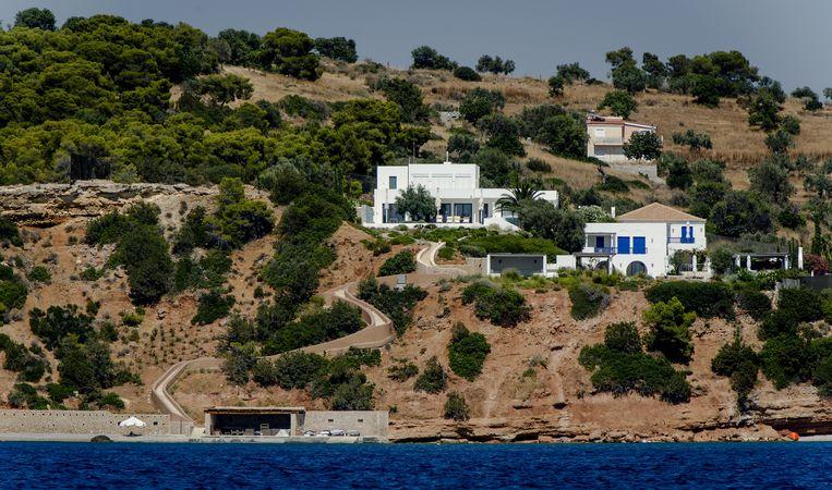 Het vakantiehuis van koning Willem-Alexander en koningin Maxima in de Zuid-Griekse plaats Kranidi. Beeld anp