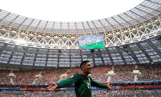 Edson Álvarez tijdens het WK van 2018 in Rusland.