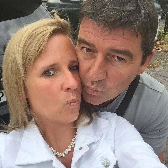 Elien Van Ryckeghem en haar vriend ex-profvoetballer en makelaar Dirk De Vriese. Foto's Facebook