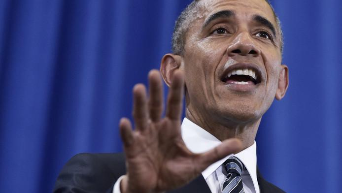Vertrekkend president Obama