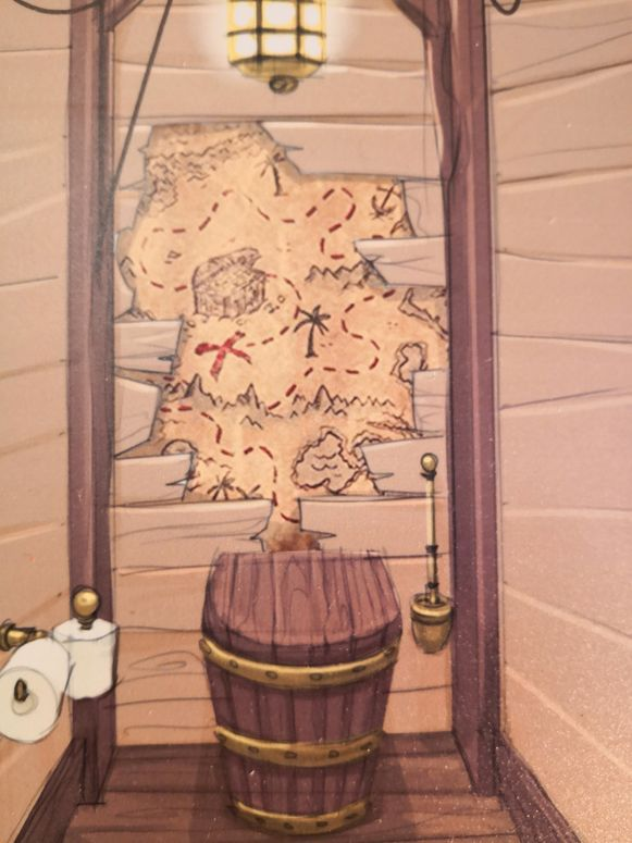Het toilet van de Piet Piraat-kamer.