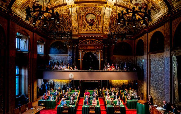 Op 11 juni trad de nieuwe Eerste Kamer aan. Het kabinet wil de verkiezingsprocedure voor de senaat veranderen.  Beeld ANP