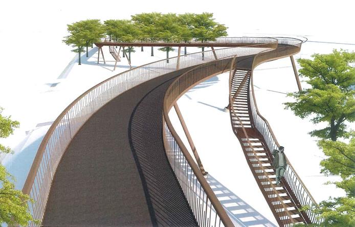 Het ontwerp voor de Slingerbrug