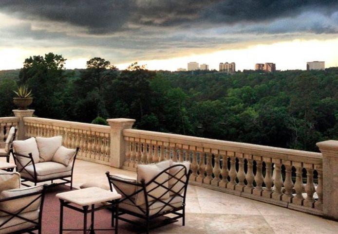 Voici la vue de la terrasse de Meghan et Harry.